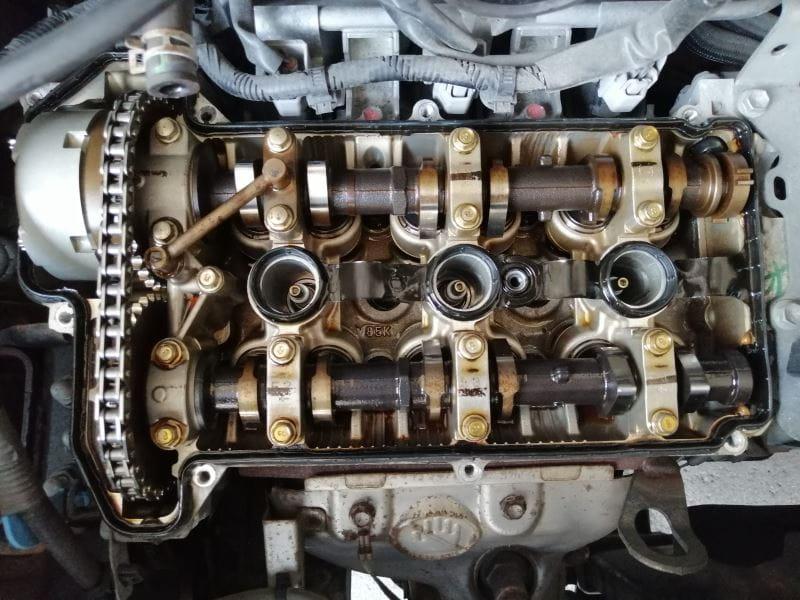 セルボ K6A エンジン内部