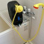 電気未使用のお湯シャワー