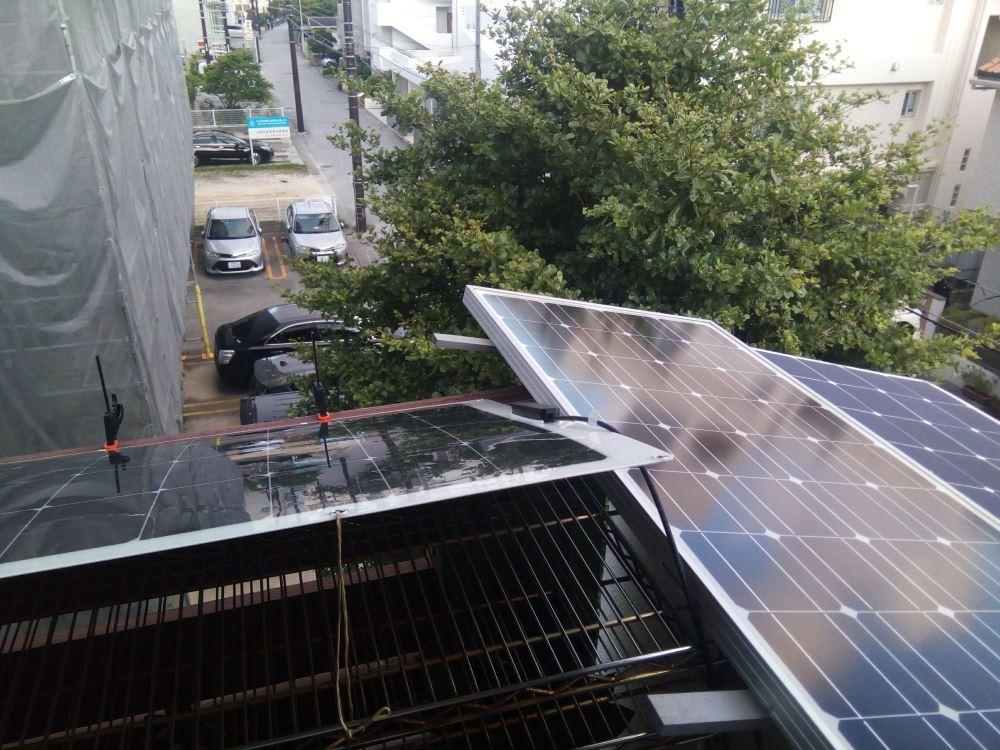 ベランダ太陽光パネル3枚