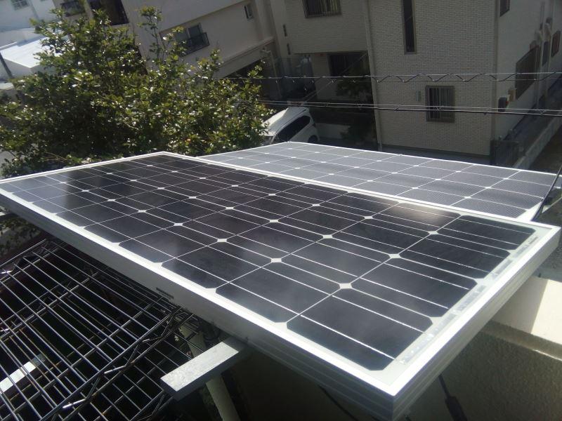 ベランダ太陽光 200W
