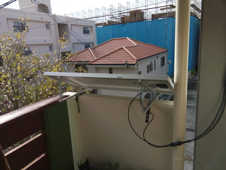 ベランダ太陽光パネル架台